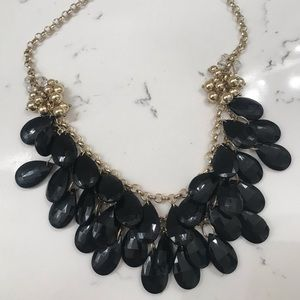 Gorgeous black and gold statement necklace.